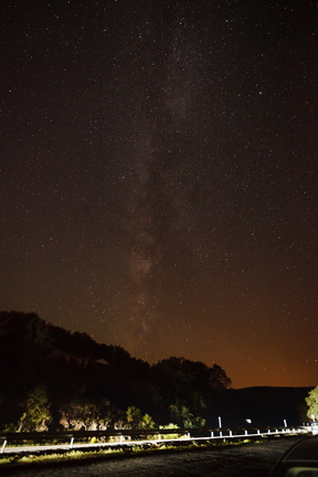 Galaxy Above a Rural Road