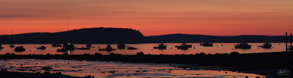 Sunrise over Bar Harbor