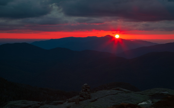 Sunset at Wright Peak